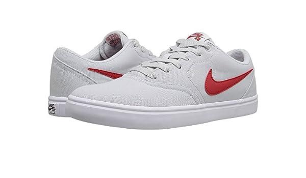 9de924379865 Nike SB Check Solar Canvas Pure Platinum University Red White Men s Skate  Shoes  Amazon.ca  Shoes   Handbags