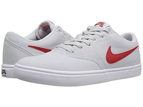 the best attitude aa72f cee32 Nike SB Check Solar Canvas Pure Platinum University Red White Men s Skate  Shoes  Amazon.ca  Shoes   Handbags