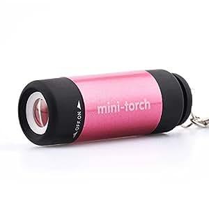Zmsdt USB Mini Llavero Linterna Recargable Antorcha ...