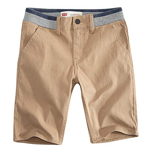 Levi's Boys' Big Slim Fit Chino Shorts, Harvest Gold, 16 ()