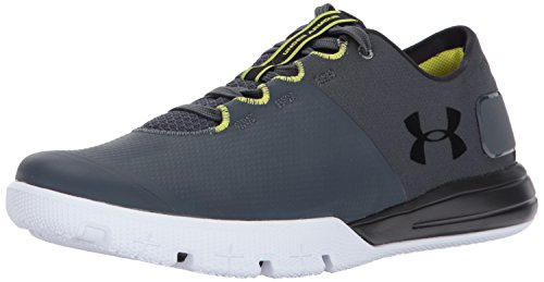Under Armour Men's Charged Ultimate 2.0 Sneaker, Stealth Gray (008)/Black, 10.5