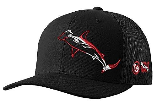 Hammerhead Shark Hat: Scuba Diving Trucker Cap - Black