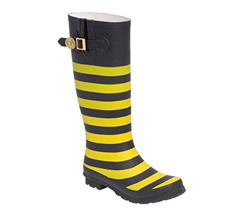 Black F Initial Gold Rainboots and Lillybee U YwqfgO5
