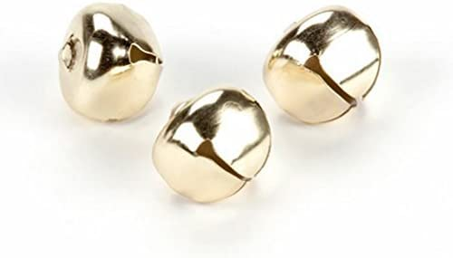 Generic Holiday Jingle Bells - Gold - 1 inch - 3 Pieces (6