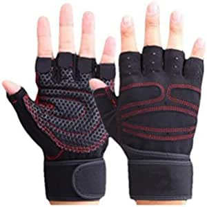 Fitness Half Finger Gloves - XL ,Black