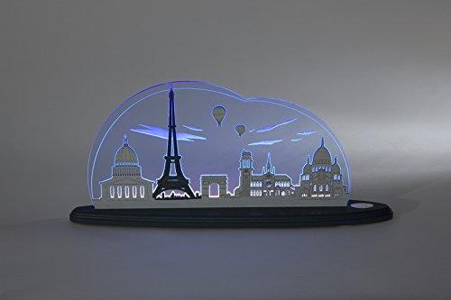 Weigla motive light I loves Paris Candle Arch light sheet Eiffel Tower NEW