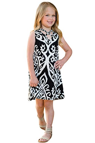 Clothes Me Black Dress Outfits Child Dress Parent Matching and Mommy Family YMING Shirt white tXwqz