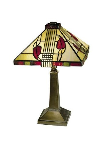 Dale Tiffany 2724/797 Henderson Table Lamp, Antique Bronze and Art Glass Shade