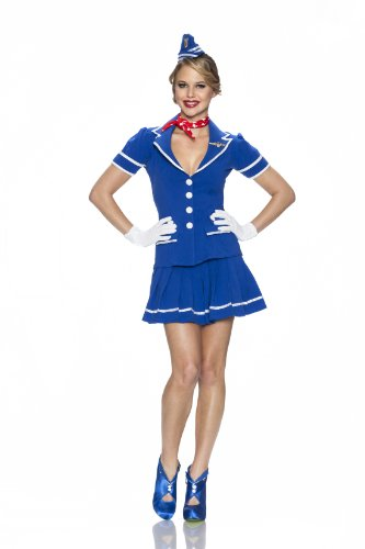 Playboy Come Fly with Me Costume, Multi, Small