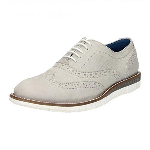 grigio ¶Ãÿen Footwear Fitters Scarpa Scarpa 41 Moda schuhgra Fino Caffè 46 Pelle Bassa Uomo in Sxqnw6x