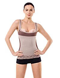 MD Shapewear Womens Tank Tops Body Shaper Camisole For Tummy Waist And Hips Medium White