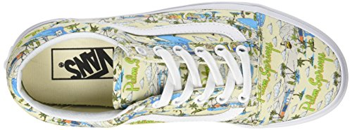 Cloud Mujer UA Springs True White para Cream Palm Zapatillas Old Skool Hueso Vans HqwSzw