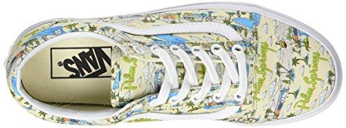 Varevogne Dame Re Gamle Skool Sneakers, Krystal Blu, 36 Eu Elfenbein (palm Springs Sky Fløde / Ægte Hvid)
