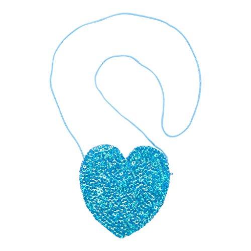 - Shu-Shi Girls Purse Sequin Heart Shaped Small Bag Crossbody with Long Strap