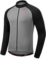 qualidyne Men's Cycling Jersey Short Sleeve Bike Shirts Tops Biking Clothing Full Zipper Bicycle Shirt wit
