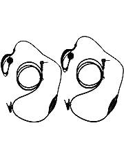 KEESIN G Forma de Clip Auriculares/Mic del Auricular para Motorola Talkabout 2 Radio de Dos vías walkie Talkie 1 Pines 100-0 (2 Piezas)