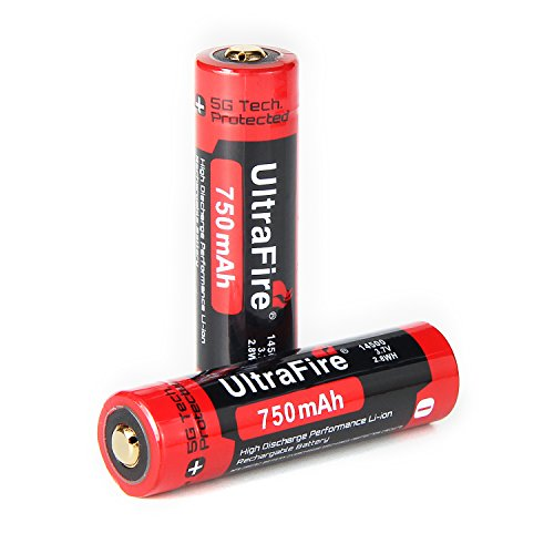 UltraFire 14500 battery Battery 750mAh MAX 3.7v Protected Rechargeable Li-ion Batteries for UltraFire SK68 Q5 / J5 EA11 LED Flashlight Torch and Camera