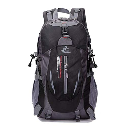 Leoneva Free Knight 35L Outdoor Sports Travel Water Repellent Nylon Backpack Black