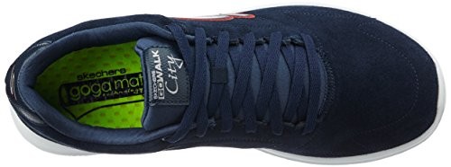 Skechers Heren Gowalk City Challenger Sneaker Marine / Wit