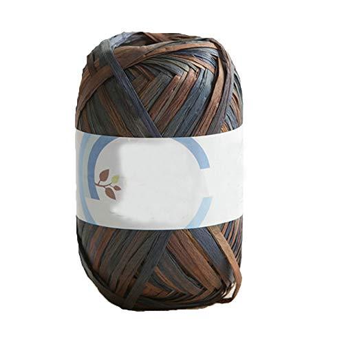 40g Hand Dyed Variegated Crochet Summer Yarn Natural Cotton Raffia Yarn Beach Bag Yarn Crochet Straw Knit Yarn Knitting Materials #5