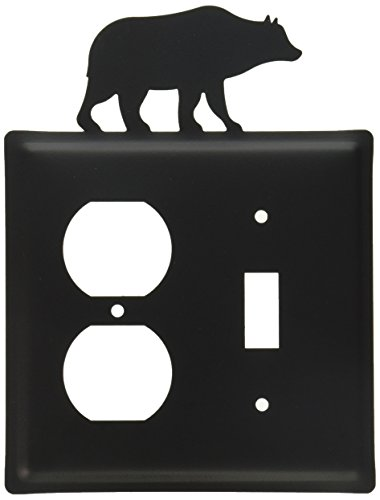Village Wrought Iron 8 Inch Bear Single Outlet and Switch Cover - Bear Single Switchplate