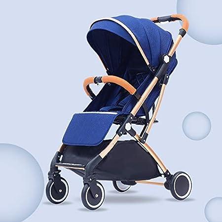 Azul cochecito de beb/é plegable ideal para Avi/ón silla de paseo ligera y compacta