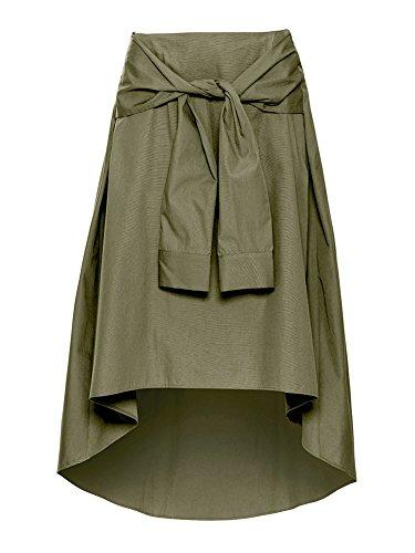 GladiolusA Jupe Femme Jupe Patineuse Taille Haute Vintage Jupe Midi Casual Party Jupe Arme Verte