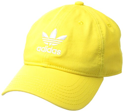 adidas Men's Originals Relaxed Strapback Cap, Yellow/White, One Size