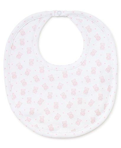 Kissy Kissy Baby-Girls Infant Beloved Bears Print Bib-White With Pink-One Size ()