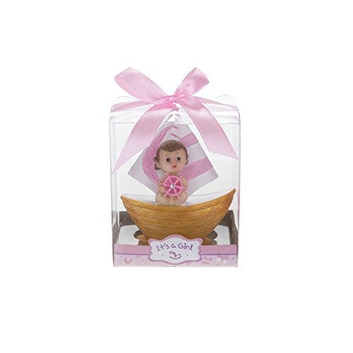 - Mega Favors 12 pcs Party Keepsake Baby Sitting In A Pink Sail Boat | Awesome Party Favors For Baby Shower Announcement Parties, Boys Or Girls Party & Other Themed Events