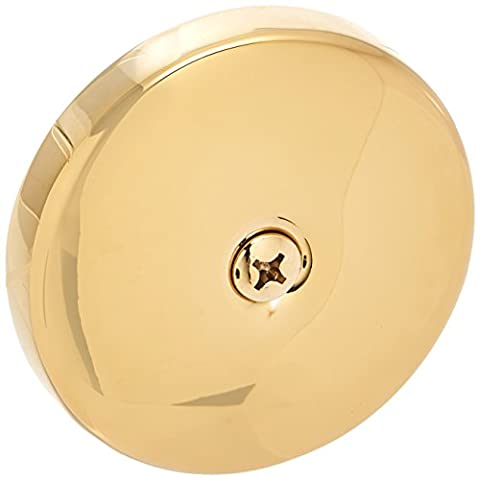 Westbrass D328-01 One Hole Tub Overflow Faceplate with Screw, Polished Brass (Bathtub Overflow Elbow)