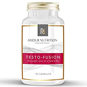 Testo- Fusion, High Strength Testosterone Supplement – Testosterone Booster for Men, Supports Testosterone Levels, D Aspartic Acid, Fenugreek, UK Made