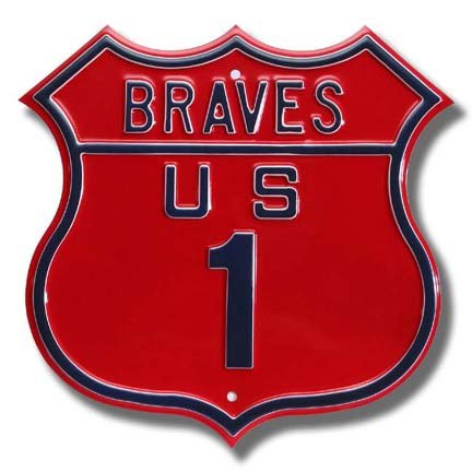 Authentic Street Signs Steel Route Sign: Braves US 1