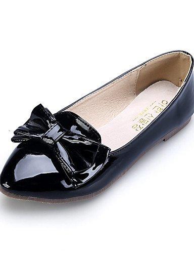 PDX/ Damenschuhe - Ballerinas - Kleid / Lässig - Kunstleder - Flacher Absatz - Komfort / Spitzschuh / Geschlossene Zehe -Schwarz / Rosa / Rot , almond-us5 / eu35 / uk3 / cn34 , almond-us5 / eu35 / uk3
