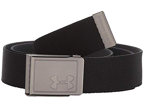 Under Armour Webbing Belt 2.0, Black (002)/Silver, One Size Fits all (Best Designer Belts 2019)
