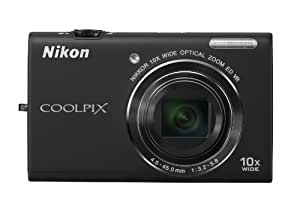 Nikon COOLPIX S6200 16 MP Digital Camera with 10x Optical Zoom NIKKOR ED Glass Lens and HD 720p Video (Black)