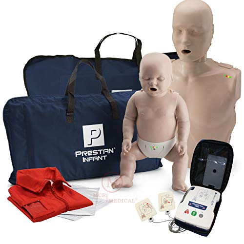 (Adult and Infant CPR Manikin with Feedback Prestan AED UltraTrainer, and MCR Accessories)