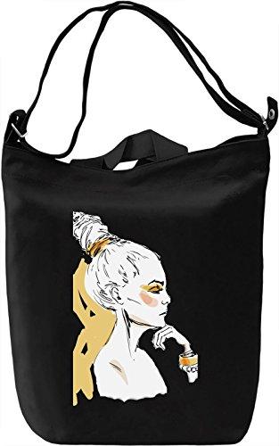 Girl with The Hair Bun Borsa Giornaliera Canvas Canvas Day Bag| 100% Premium Cotton Canvas| DTG Printing|
