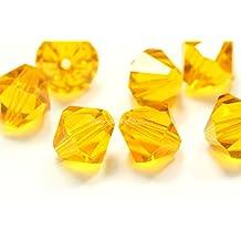 100 4mm Adabele Austrian Bicone Crystal Beads Light Topaz Compatible with Swarovski Preciosa Crystalized 5301/5328#SSB408