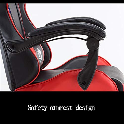 LJHA spelstol, ergonomisk hög rygg datorstol justerbar internetkafé racerstol kontorsstol (färg: Gul)