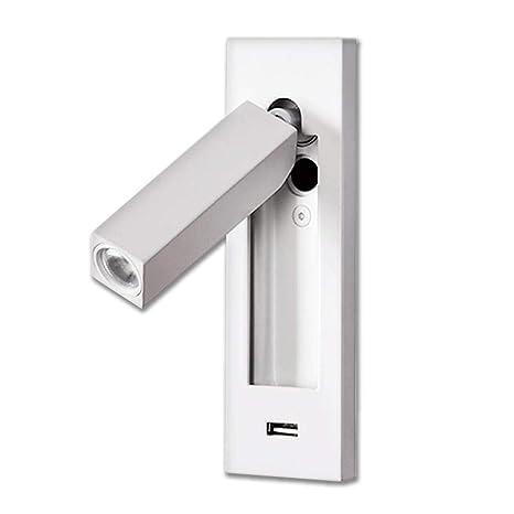 Luminaria de pared LED moderna Cargador USB iluminación ...