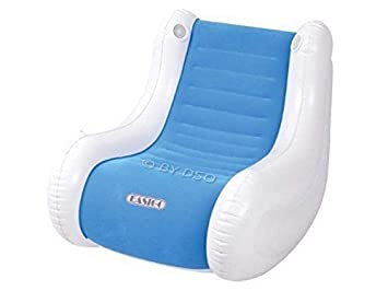 Remarkable Inflatable Gaming Chair With Speakers Blue And White Inzonedesignstudio Interior Chair Design Inzonedesignstudiocom