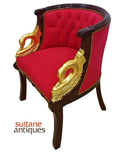 Sultaneantiques - Luxurious Louis XV Navy BlueArmchair with Gold Painted Arms ()