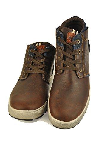 Australian Au227 - Zapatillas de Piel para hombre, color beige, talla 44