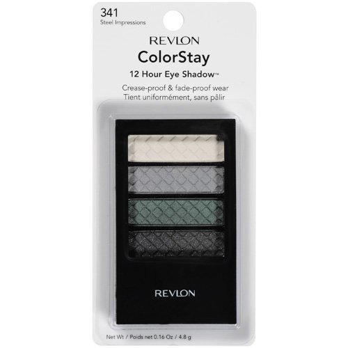 Revlon Colorstay 12 Hour Eye Shadow, Quad Steel Impressions,