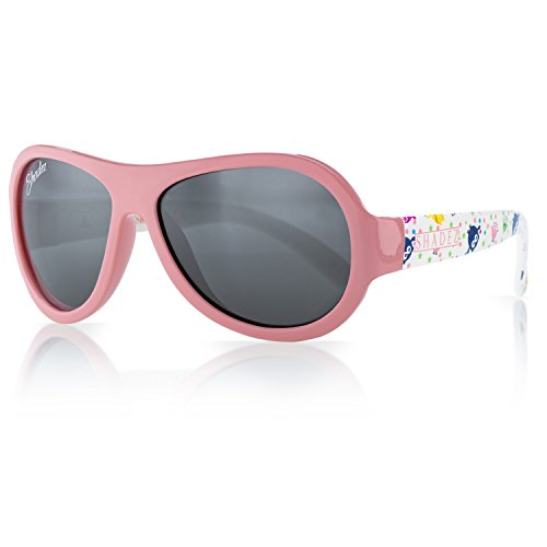 SHADEZ Kids Flex Frame Designer Aviator Sunglasses -Owl, Pink, 0-3 Years - 100% UV Protection for Baby, Children and Teens (Custom Sonnenbrillen Frames)