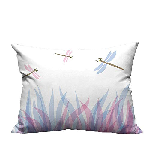 alsohome Home DecorCushion Covers Colorful Birds Like Bugs FLI Flame Abstract Image Violet Blu Decorative for Kids Adults 13.5x19 inch(Double-Sided -