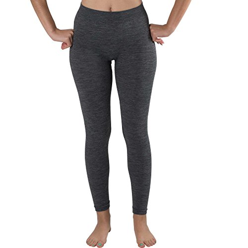 Pure Compression Wool Skiing Tights – Thermal Lightweight Compression Leggings Base Layer – Warm Ski Underwear (Small, Grey)