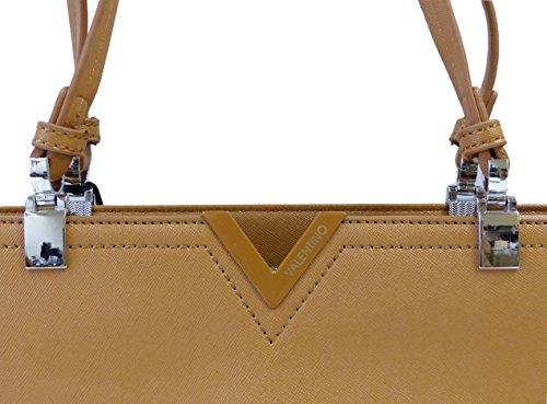 Valentino by Mario Valentino Tasche Museum VBS1SS04STD CUOIO Damen Handtasche Henkeltasche Schultertasche Braun (40 cm x 28 cm x 14,5 cm)