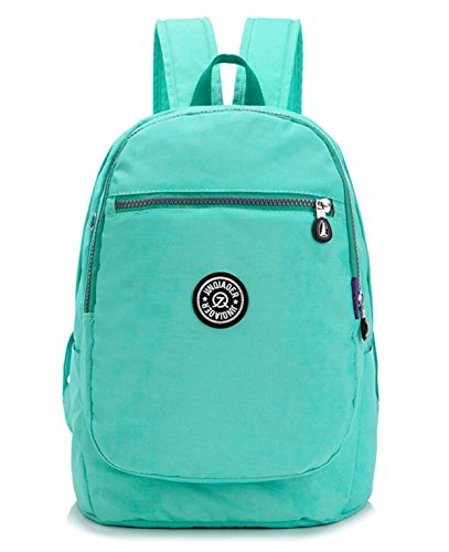 Girls Lightweight Floral Backpack Purse Water-resistant Nylon Travel Hiking Daypack for Women Kids Backpack School Bag (Aquamarine) by Big Mango
